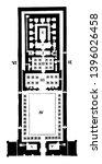 ground plan of edfou  edfou...   Shutterstock .eps vector #1396026458