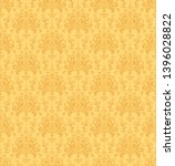 damask seamless pattern. yellow ... | Shutterstock .eps vector #1396028822