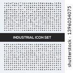 industrial vector icon set... | Shutterstock .eps vector #1396034075
