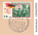 Germany circa 1965 a stamp...