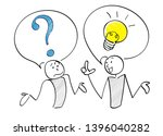 question and answer scene of 2...   Shutterstock .eps vector #1396040282