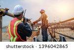 worker in shipyard with...   Shutterstock . vector #1396042865