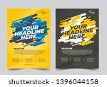 modern colored poster for... | Shutterstock .eps vector #1396044158