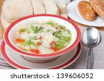 minestrone soup with vegetables ... | Shutterstock . vector #139606052