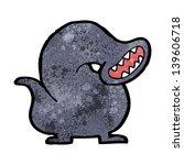 cartoon giant leech monster | Shutterstock . vector #139606718