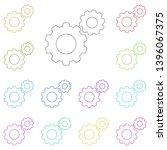 gear  tuning multi color icon....