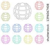 globe symbol sign multi color...