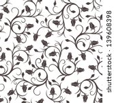 seamless pattern with rose buds.... | Shutterstock .eps vector #139608398