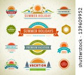retro summer labels and signs.... | Shutterstock .eps vector #139609952
