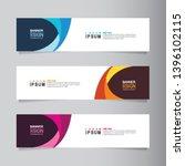 vector abstract banner design... | Shutterstock .eps vector #1396102115