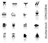 Grill  Barbecue  Bbq Icons Set