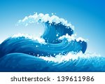 illustration of a sea with... | Shutterstock .eps vector #139611986