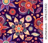 paisley. seamless vector... | Shutterstock .eps vector #1396125332