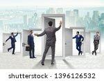 businessman in uncertainty... | Shutterstock . vector #1396126532