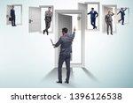businessman in uncertainty... | Shutterstock . vector #1396126538