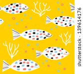 fishes and colored bubbles... | Shutterstock .eps vector #139614176