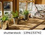 window sill pillow for rest... | Shutterstock . vector #1396153742