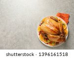 platter of cooked turkey with...   Shutterstock . vector #1396161518