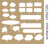 vector set of talk and think... | Shutterstock .eps vector #139617182
