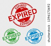 rubber stamp seal expired  ... | Shutterstock .eps vector #1396173692