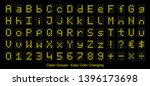 led digital display   yellow... | Shutterstock .eps vector #1396173698
