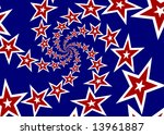 patriotic spiral of red and... | Shutterstock . vector #13961887