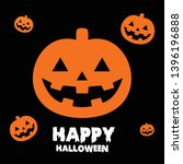 happy halloween background... | Shutterstock .eps vector #1396196888