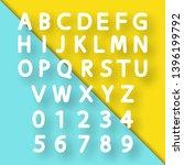 paper cut letters  vector... | Shutterstock .eps vector #1396199792