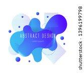 blue abstract liquid shape ... | Shutterstock .eps vector #1396199798