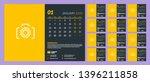 desk calendar template for 2020 ... | Shutterstock .eps vector #1396211858