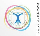 vector simple logo stylized... | Shutterstock .eps vector #1396230332