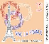 bastille day. july 14. concept... | Shutterstock . vector #1396235768