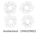 sun rays images in hand drawing ... | Shutterstock . vector #1396235822