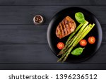 barbecue grilled beef steak... | Shutterstock . vector #1396236512