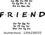 Vector Of Modern Bold Font....