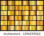 vector collection of golden... | Shutterstock .eps vector #1396255562