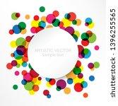 vector frame in grunge color... | Shutterstock .eps vector #1396255565