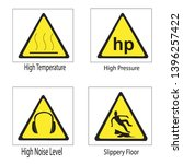 set of safety signs. caution... | Shutterstock .eps vector #1396257422