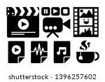cinema business black and white ... | Shutterstock .eps vector #1396257602