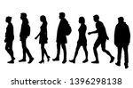 set of vector silhouettes of ... | Shutterstock .eps vector #1396298138