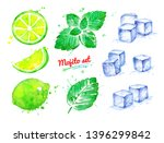 watercolor hand drawn... | Shutterstock . vector #1396299842