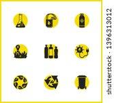 eco icons set with plastic...