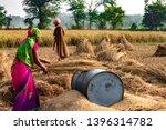 hard working indian woman... | Shutterstock . vector #1396314782