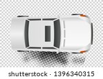 white car top view vector... | Shutterstock .eps vector #1396340315