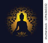 buddha sit under bodhi tree and ... | Shutterstock .eps vector #1396360232
