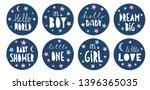 sweet baby shower vector... | Shutterstock .eps vector #1396365035