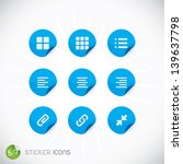 sticker icons  symbols  buttons ... | Shutterstock .eps vector #139637798