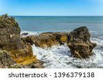 pancake rock is a natural... | Shutterstock . vector #1396379138
