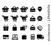 shopping icon set | Shutterstock .eps vector #139640456