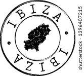 ibiza spain map. silhouette... | Shutterstock .eps vector #1396407215
